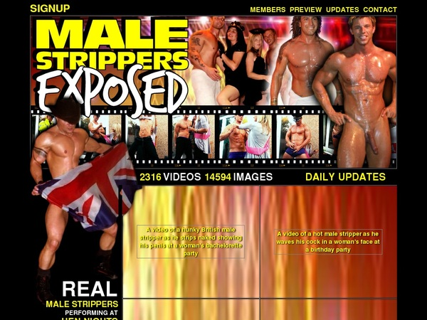 Male Strippers Exposed Accounts Password