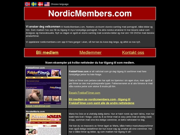 Nordic Members Payment Page